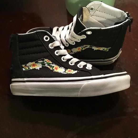 "855235278b7 Kids vans ""girls"" shoes size 11 1/2"